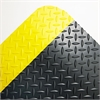 Crown Industrial Deck Plate Anti-Fatigue Mat, Vinyl, 36 x 60, Black/Yellow Border