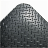 Crown Industrial Deck Plate Anti-Fatigue Mat, Vinyl, 36 x 144, Black