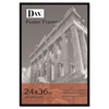 DAX Flat Face Wood Poster Frame, Clear Plastic Window, 24 x 36, Black Border