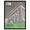 DAX Flat Face Wood Poster Frame, Clear Plastic Window, 18 x 24, Black Border