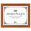DAX Plaque-In-An-Instant Kit w/Certs & Mats, Wood/Acrylic, Up to 8 1/2 x 11, Walnut