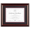 Desk/Wall Photo Frame, Plastic, 11 x 14, 8 1/2 x 11, Rosewood/Black