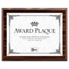 DAX Award Plaque, Wood/Acrylic Frame, Up to 8 1/2 x 11, Walnut