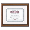 DAX Prestige Document Frame, Matted w/Cert, Walnut/Black, 11 x 14, 8 1/2 x 11
