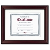 DAX Rosewood Document Frame, Wall-Mount, Plastic, 11 x 14, 8 1/2 x 11