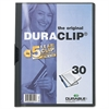 Vinyl DuraClip Report Cover, Letter, Holds 30 Pages, Clear/Graphite