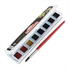 Professional Watercolors, 8 Assorted Colors,Half Pans