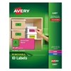 High-Visibility Removable ID Labels, Laser/Inkjet, 2 x 4, Asst. Neon, 120/Pack