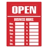 Business Hours Sign Kit, 15 x 19, Red