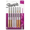 Metallic Permanent Markers, Assorted, 6/Pack