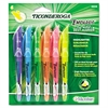 Ticonderoga Emphasis Pocket Style Highlighter, Chisel Tip, 6/Set