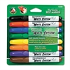 White System Dry Erase Marker, Chisel Tip, Assorted Colors, 8/Set