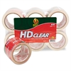 "Duck Heavy-Duty Carton Packaging Tape, 3"" x 55yds, Clear, 6/Pack"
