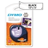 "DYMO LetraTag Plastic Label Tape Cassette, 1/2"" x 13ft, Clear"