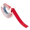 "Self-Adhesive Glossy Labeling Tape for Embossers, 3/8"" x 12 ft. Roll, Red"