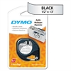 DYMO LetraTag Metallic Label Tape Cassette, 1/2in x13ft, Silver
