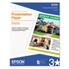 Matte Presentation Paper, 27 lbs., Matte, 8-1/2 x 11, 100 Sheets/Pack