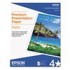 Premium Matte Presentation Paper, 45 lbs., 8-1/2 x 11, 50 Sheets/Pack