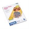 Epson Glossy Photo Paper, 52 lbs., Glossy, 8-1/2 x 11, 50 Sheets/Pack