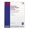 Epson Premium Photo Paper, 68 lbs., High-Gloss, 17 x 22, 25 Sheets/Pack
