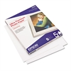 Epson Ultra-Premium Glossy Photo Paper, 79 lbs., 8-1/2 x 11, 50 Sheets/Pack