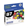 Epson T087120 (87) UltraChrome Hi-Gloss 2 Ink, Black