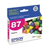 Epson T087320 (87) UltraChrome Hi-Gloss 2 Ink, Magenta