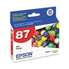 Epson T087720 (87) UltraChrome Hi-Gloss 2 Ink, Red