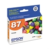 Epson T087920 (87) UltraChrome Hi-Gloss 2 Ink, Orange