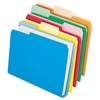 Double Stuff File Folders, 1/3 Cut, Letter, Assorted, 50/Pack