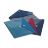 Pendaflex ViewFront Poly Booklet Envelope, Side Opening, 12 1/2 x 9 1/4, 3 Colors, 4/Pack