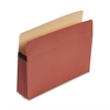 "Earthwise by Pendaflex 100% Recycled File Pocket, 5 1/4"" Exp, Letter, Red Fiber"