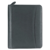 FranklinCovey Nappa Leather Ring Bound Organizer w/Zipper, 8 x 10, Black