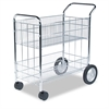 Fellowes Wire Mail Cart, 21-1/2w x 37-1/2d x 39-1/4h, Chrome