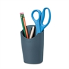 Fellowes Plastic Partition Additions Pencil Cup, 3 1/2 x 5 9/16, Graphite
