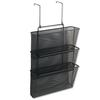 Fellowes Mesh Partition Additions Three-File Pocket Organizer, 12 5/8 x 16 3/4, Black