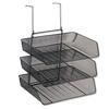 Fellowes Mesh Partition Additions Three-Tray Organizer, 11 1/8 x 14 x 14 3/4, Black
