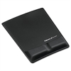 Fellowes Memory Foam Wrist Support w/Attached Mouse Pad, Black