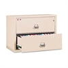 Two-Drawer Lateral File, 37-1/2w x 22-1/8d, UL Listed 350°, Ltr/Legal, Parchment