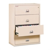 FireKing Four-Drawer Lateral File, 31-1/8 x 22-1/8, UL Listed 350°, Ltr/Legal, Parchment