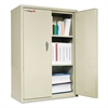 FireKing Storage Cabinet, 36w x 19-1/4d x 44h, UL Listed 350° for Fire, Parchment
