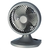 "Holmes Blizzard 9"" Three-Speed Oscillating Table/Wall Fan, Charcoal"