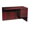 HON 10500 Series L Workstation Return, 3/4 Height Right Ped, 48w x 24d, Mahogany