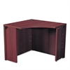 10500 Series Curved Corner Workstation, 18 x 36 x 36 x 18 x 29-1/2h, Mahogany