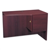 HON 10500 Series Curved Return, Right, 42w x 18-24d x 29 1/2h, Mahogany