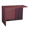 10500 Series Curved Return, Left, 42w x 18-24d x 29 1/2h, Mahogany