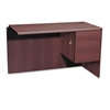 "HON 10700 ""L"" Workstation Return, Right 3/4 Pedestal, 48w x 24d x 29 1/2h, Mahogany"