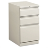 Efficiencies Mobile Pedestal File w/One File/Two Box Drwrs, 19-7/8d, Lt Gray