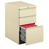 HON Efficiencies Mobile Pedestal File with One File/Two Box Drawers, 22-7/8d, Putty