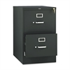 510 Series Two-Drawer, Full-Suspension File, Legal, 29h x25d, Black